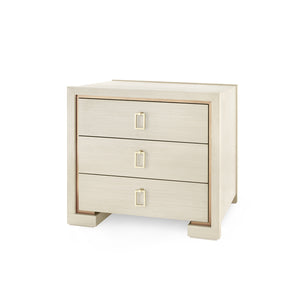Bungalow 5 Blake 3-Drawer Side Table, Blanched Oak