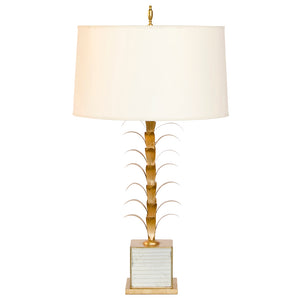 Worlds Away Glam Gold & Antique Mirror Table Lamp