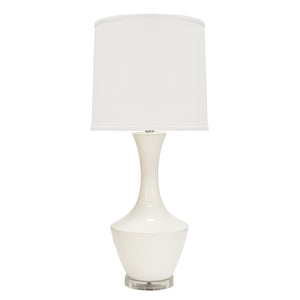 Worlds Away Ceramic Vase Table Lamp – White