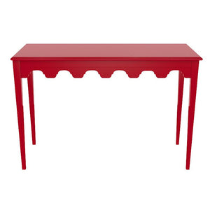 Bristol Scalloped Lacquer Console Table - Bolero Red (19 colors available)
