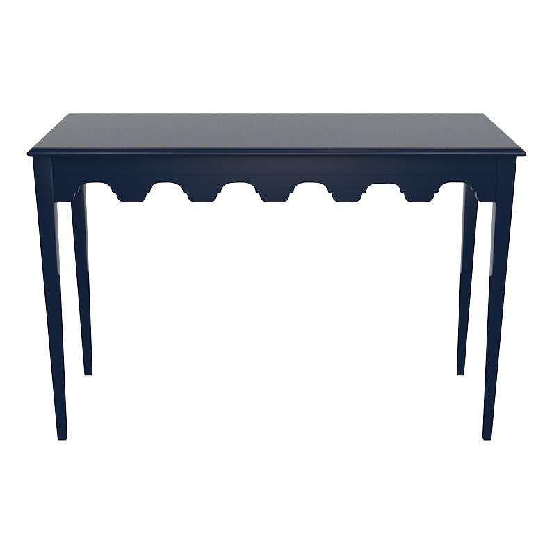 Bristol Scalloped Lacquer Console Table - Club Navy (Additional Colors Available)