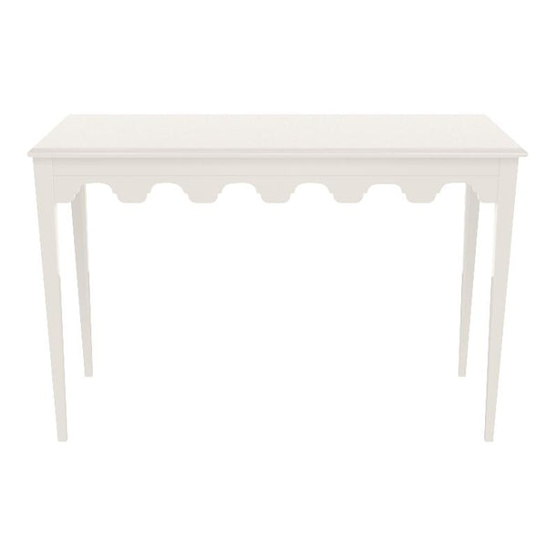 Bristol Scalloped Lacquer Console Table - White (19 colors available)