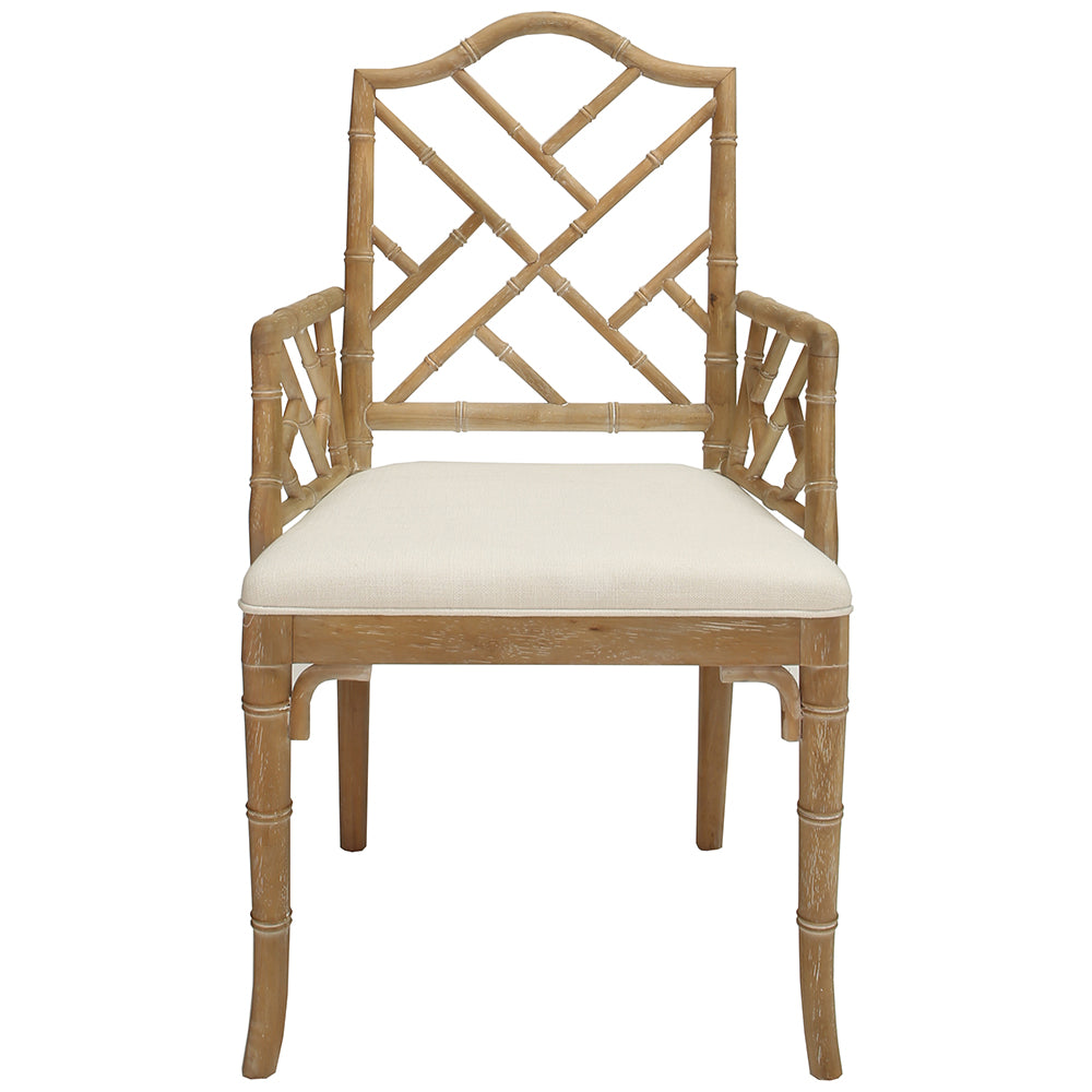 Worlds Away Chippendale Style Dining Arm Chair U2013 Cerused Oak