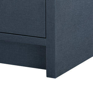 Bungalow 5 Bryant 3-Drawer Side Table, Navy Blue