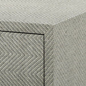 Bungalow 5 Brittany 3-Drawer Side Table , Gray Tweed