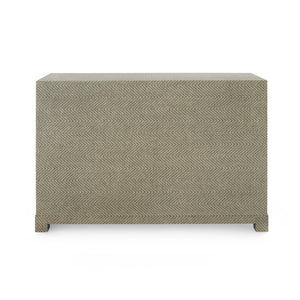 Bungalow 5 Brittany Large 3-Drawer, Gray Tweed