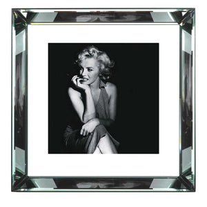 Worlds Away Beveled Mirror Frame Wall Art – Marilyn