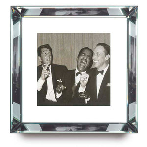 Worlds Away Beveled Mirror Frame Wall Art – Rat Pack