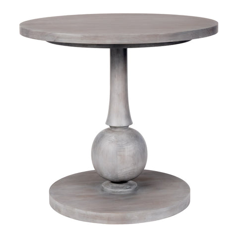 Beatrice Large Accent Table with Turned Pedestal – 25 Finish Options