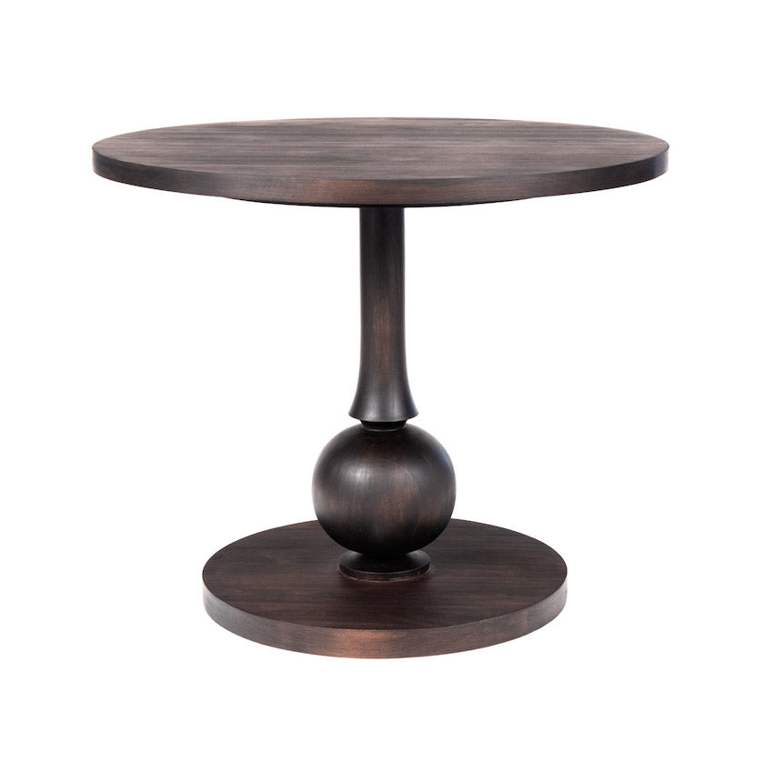 Beatrice Dinette Table with Turned Pedestal Additional Finishes Available