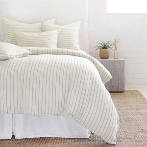 POM POM AT HOME BLAKE-CREAM/GREY-DUVET-COVER
