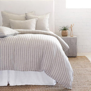 POM POM AT HOME BLAKE-FLAX/MIDNIGHT-DUVET-COVER
