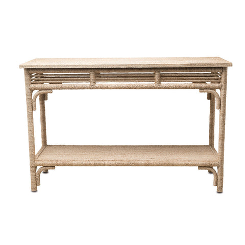 Currey and Company Braided Rope Console – Natural
