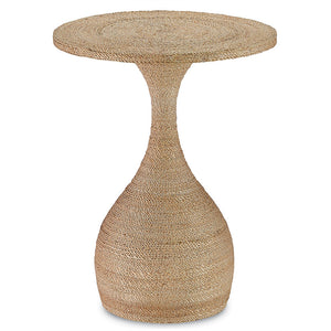 Currey and Company Braided Rope Side Table – Natural