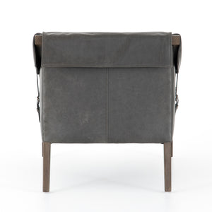 Bauer Leather Chair - Chaps Ebony