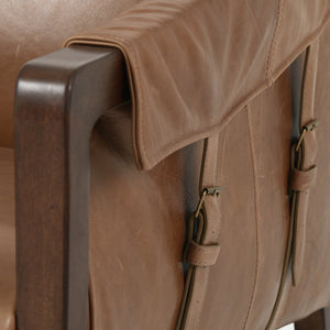 Bauer Leather Chair - Warm Taupe Dakota