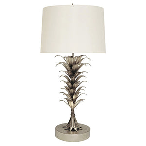 Worlds Away Palm Leaves Table Lamp – Silver