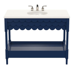 Capri Large Lacquer Vanity – Club Navy (Additional Colors Available)