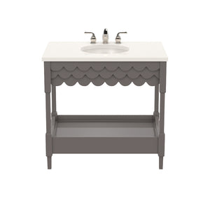 Capri Small Lacquer Vanity – Charcoal (Additional Colors Available)