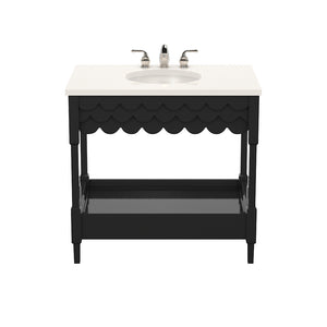 Capri Small Lacquer Vanity – Black (Additional Colors Available)