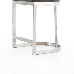 Rory Modern Counter Stool - Graphite Grey