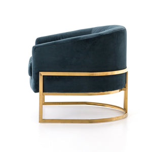 Corbin Club Chair - Jasper Teal Velvet