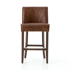 Aria Counter Stool - Sienna Chestnut Leather