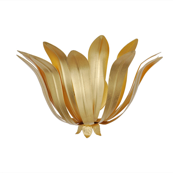 Worlds Away Contemporary Metal Leaves Sconce – Gold Leaf