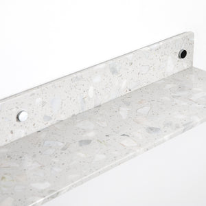 Lowry White Terrazzo Wall Shelf - Set of 3