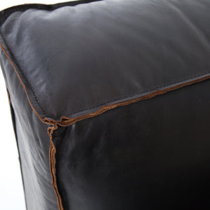 Nolita Leather Sectional Right Arm Facing - Black
