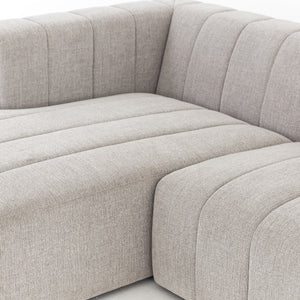 Langham Channeled 3 Piece Sectional - Pewter