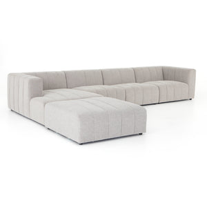 Langham Channeled 4 Piece Sectional - Pewter