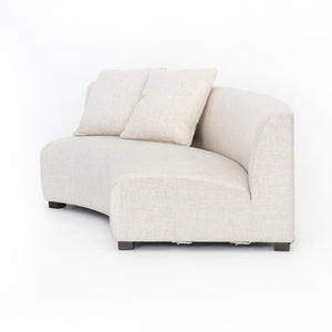 Liam Left Curved Sofa Piece - Cream Linen