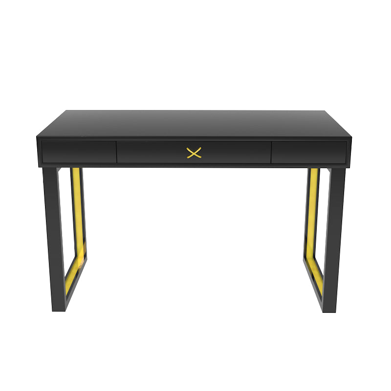 Chelsea Lacquer Desk with Metal Accents – Black (Additional Colors Available)