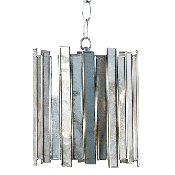 Worlds Away Antique Mirror Mini Pendant – Silver