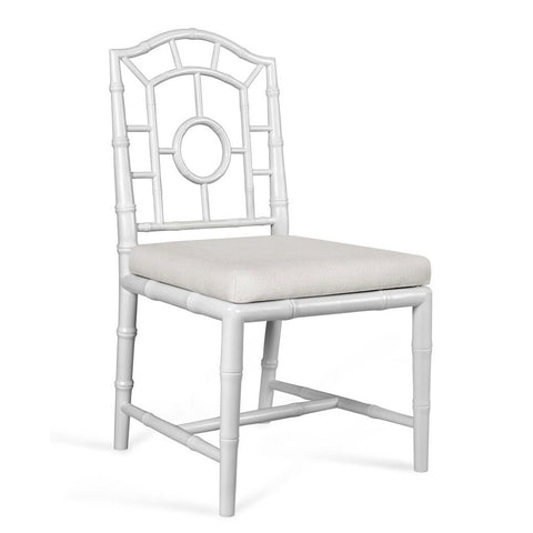 Bungalow 5 Chinoiserie Mahogany Side Chair — White
