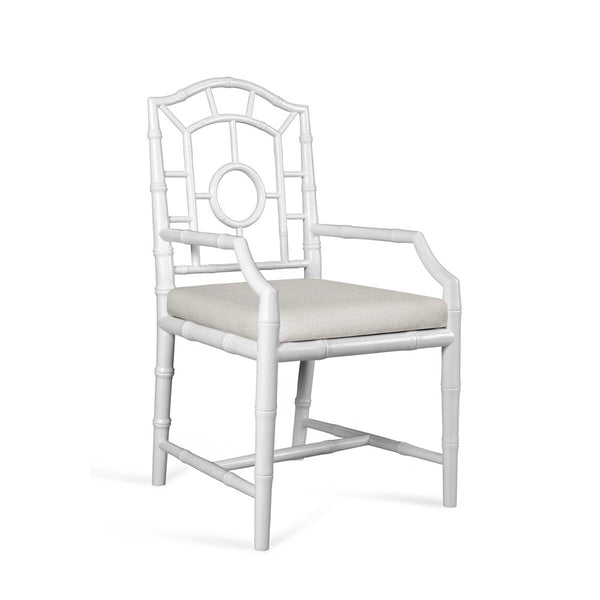 Bungalow 5 Chinoiserie Mahogany Arm Chair — White