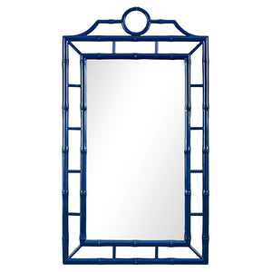 Bungalow 5 Fretwork Mirror – Navy Lacquer