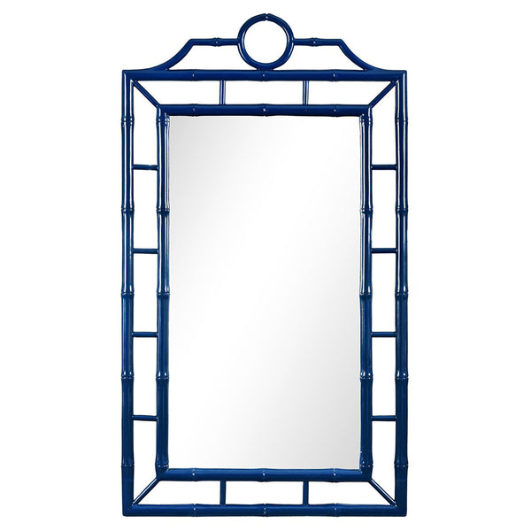 Fretwork Mirror – Navy Lacquer