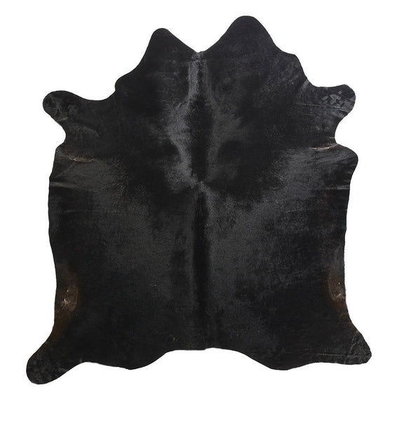 Black Natural Hide Rug with Brown Undertones