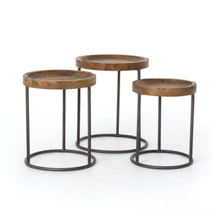 Tristan Nesting Tables - Bleached Pine