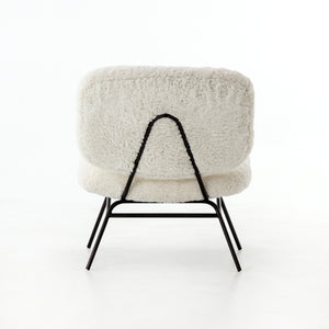 Caleb Chair - Ivory Angora Faux Shearling
