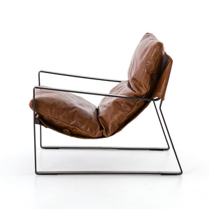 Emmett Sling Chair - Tobacco Brown Leather