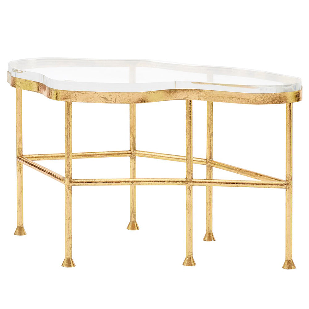 Etonnant Bungalow 5 Glam Gold Leafed Coffee Table With Acrylic Top