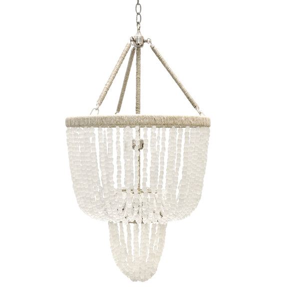 Carmen Beaded Chandelier – Frost Recycled Glass Beads