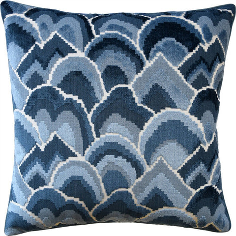 Cloud Pattern Pillow – Blue