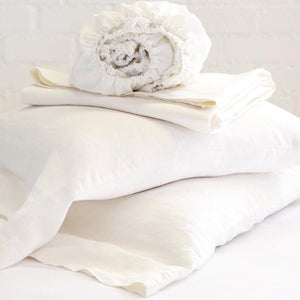 POM POM AT HOME LINEN SHEET SET - CREAM