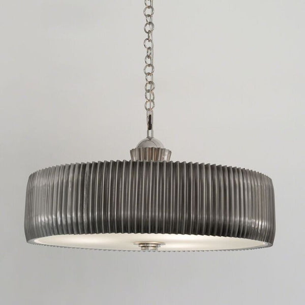 Crimp Chandelier – Antique Nickel