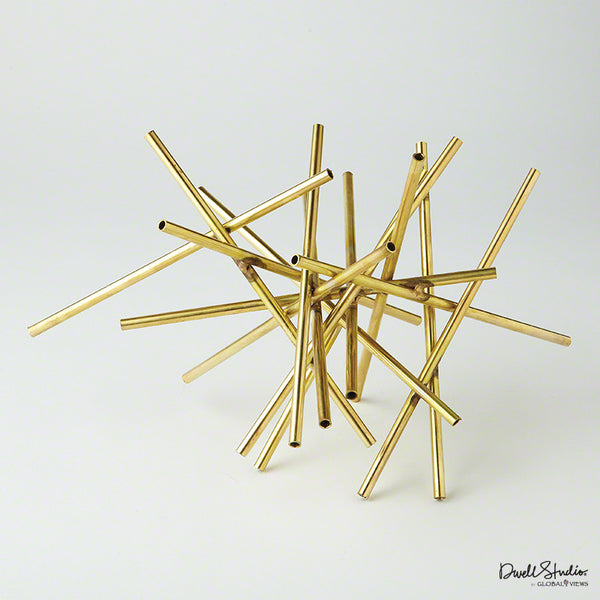 Tubular Burst Sculpture – Gold