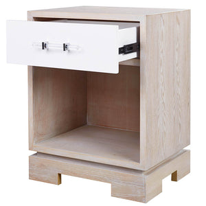 Worlds Away 1-Drawer Accent Table – Cerused Oak
